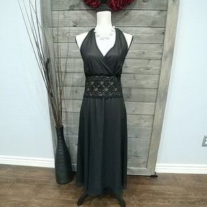 Black Tie Back Gown 💋💋 Swing Dress